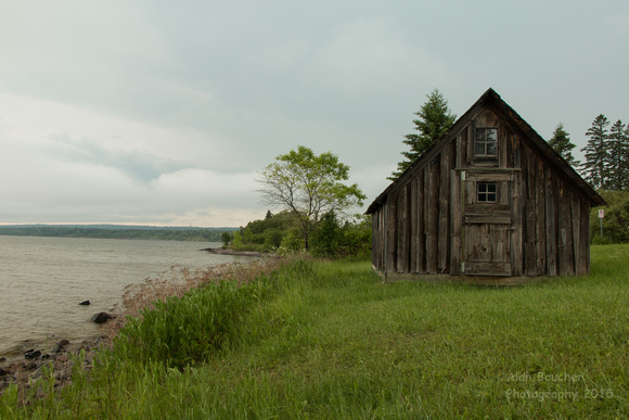 Old Barn on the Shore