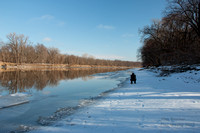 Capturing the Minnesota River in January