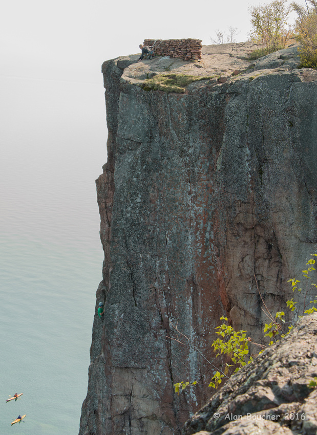 Rappelling and Paddling along the Lake Superior Shore